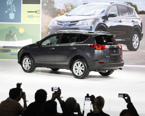 "Toyota kicked off the 2012 Los Angeles Auto Show with the world debut of the all-new 2013 RAV4, the first redesign of the hot-selling small SUV in seven years. <br><b>More: </b><a href=""http://www.latimes.com/business/autos/la-fi-hy-autos-laas-toyota-rav4-debut-20121128,0,5016315.story"" target=""_blank"">Details on the new RAV4, the first redesign of  small SUV in seven years</a>"