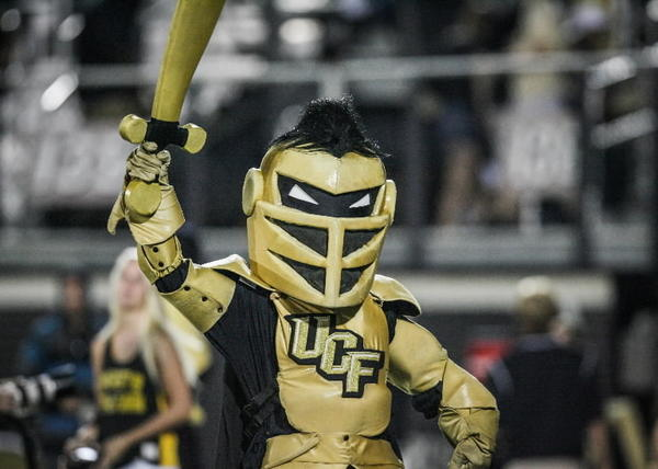 UCF mascot Knightro reacts during fourth quarter action of a C-USA football game against SMU at the Brighthouse Networks Stadium on Saturday, November 03, 2012 in Orlando, Fla. (Joshua C. Cruey/Orlando Sentinel)