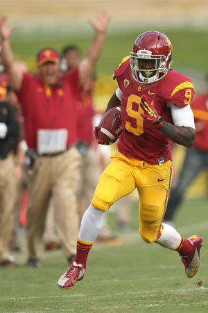 USC sophomore Marqise Lee leads major college football with a Pac-12 Conference-record 112 receptions.