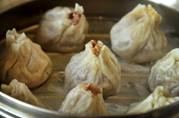 Wuhan <i>shiu mai</i> dumplings are thin-walled and shaped like nuclear cooling towers.