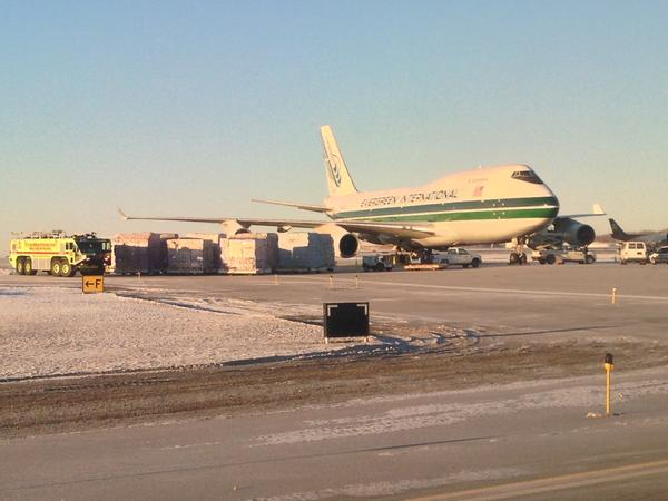 "An Evergreen International 747-400 cargo jet landed safely at Ted Stevens Anchorage International Airport shortly before 7 a.m. Wednesday, after declaring an emergency during a flight from Shanghai, China to Anchorage. Although the pilot had received an indication that the landing gear hadn't fully deployed, National Transportation Safety Board investigator Larry Lewis says the 747 landed ""without incident."""