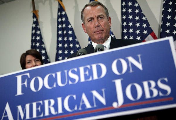 House Speaker John Boehner (R-Ohio) speaks during a Capitol news conference on the battle over tax hikes.