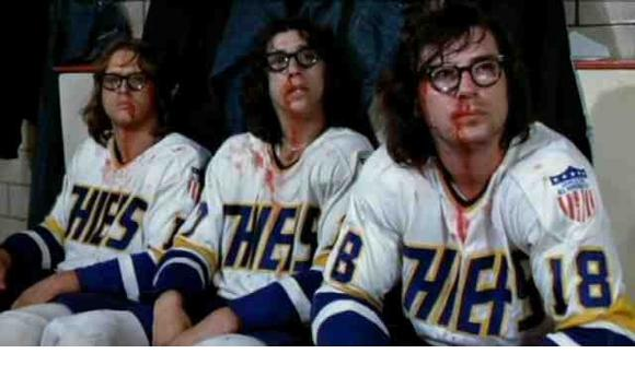 The Hanson Brothers from the 1977 hockey movie, Slap Shot