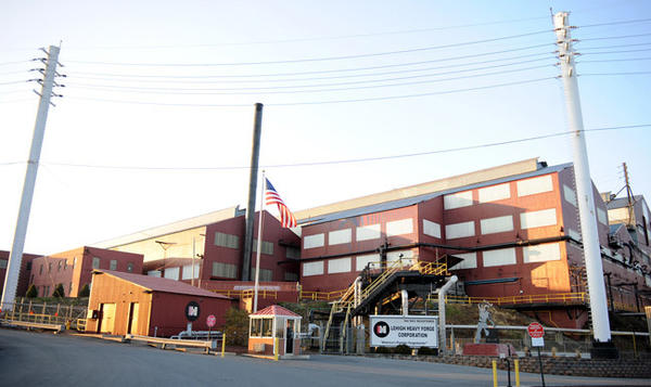 This is the press forge building at the Lehigh Heavy Forge Corporation.