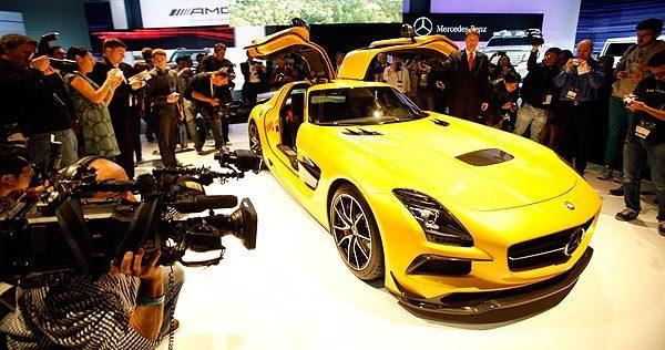 The SLS AMG Black Series at the 2012 L.A. Auto Show.