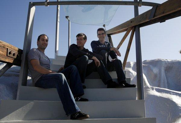 Fourth Wall Studios co-founders Elan Lee, Sean Stewart and Jim Stewartson (left to right)
