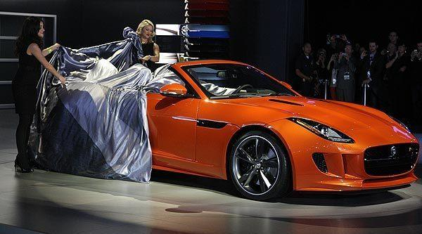 The Jaguar F-Type convertible.