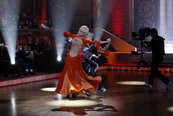 "Russia-1 television network shoots a live ""Dancing with the Stars"" show at a Mosfilm Studios pavilion."