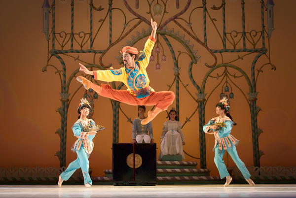 Miami City Ballet Principal Soloist Kleber Rebello performing in George Balanchine's The Nutcracker.