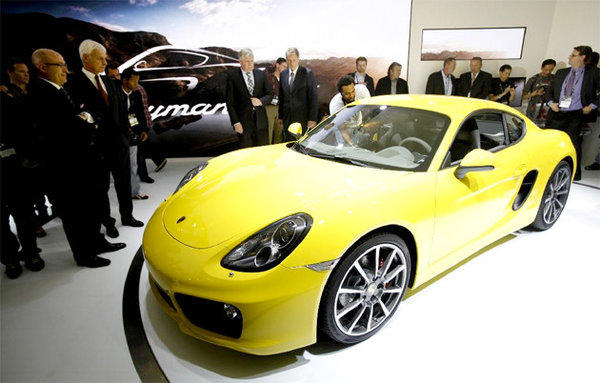 The 2014 Porsche Cayman S made its world debut at the 2012 L.A. Auto Show.