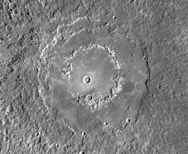 NASA has launched a website with hundreds of images of the surface of Mercury, including this one of the crater Raditladi taken by the Messenger spacecraft.