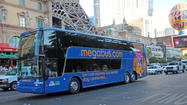 "It's back. <a href=""http://www.megabus.com"" target=""_blank"">Megabus</a>, which offered low-cost bus service to <a href=""http://www.latimes.com/travel/destinations/lasvegas"" target=""_self"">Las Vegas</a> from L.A. in 2007 and then withdrew from the market, will begin service between the two cities on Dec. 12, it announced Wednesday."