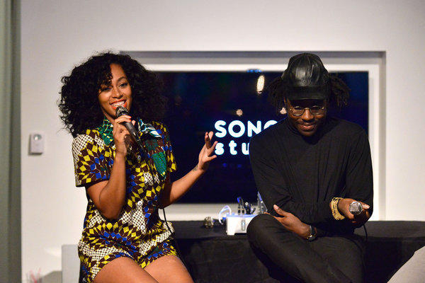 "Solange Knowles talks about her new EP ""True"" with producer Dev Hynes at Los Angeles' Sonos Studio."