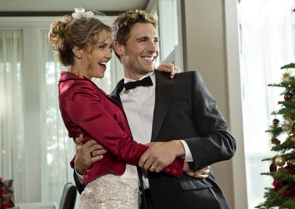 "Arielle Kebbel plays a three-time bride-to-be who calls off her engagement right before the holidays in ""A Bride for Christmas"", a Hallmark Channel Original Movie."