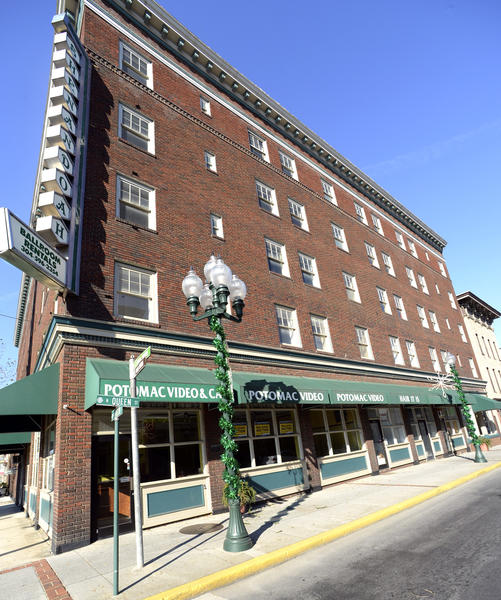 The Shenandoah Hotel building in downtown Martinsburg, W.Va., will be auctioned on Dec. 12 at noon.