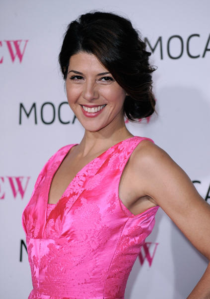 "Actress <a class=""taxInlineTagLink"" id=""PECLB003849"" title=""Marisa Tomei"" href=""/topic/entertainment/marisa-tomei-PECLB003849.topic"">Marisa Tomei</a> is 46 today. (Photo by Frazer Harrison/Getty Images)"