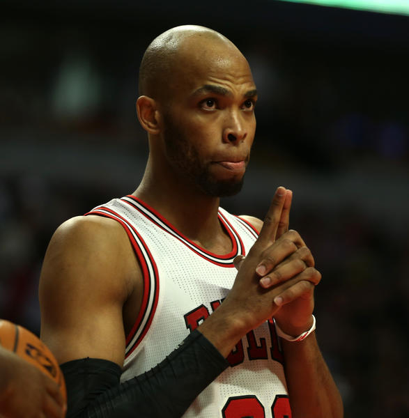 Bulls' Taj Gibson during the 101-78 win over the Mavericks at the United Center.