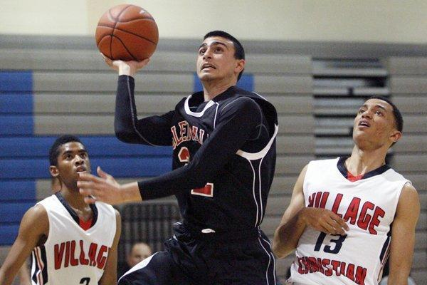 Glendale center Vahe Aristakessian finished with nine points and seven rebounds for the Nitros.