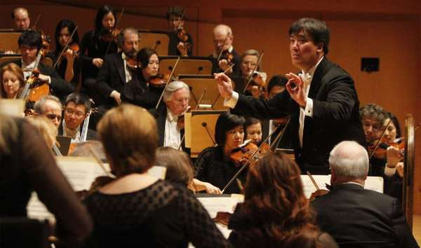 Alan Gilbert leads the New York Philharmonic at a concert at Walt Disney Concert Hall in May.