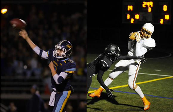 Howard County football Players of the Year Austin Altman and James Simms
