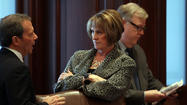 Republican Sen. Christine Radogno of Lemont survived a challenge Wednesday night and will continue as Senate GOP leader for two more years.