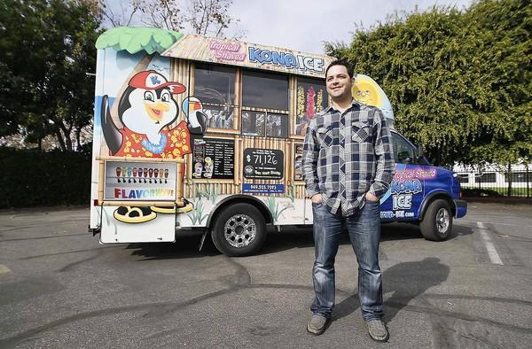 Dan Muraira is the co-owner of the Kona Ice truck in Orange County.