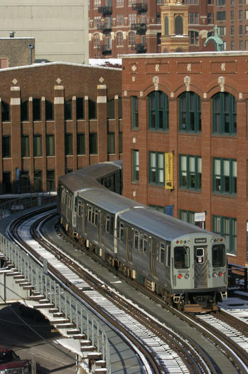 Brown Line by the Merchandise Mart