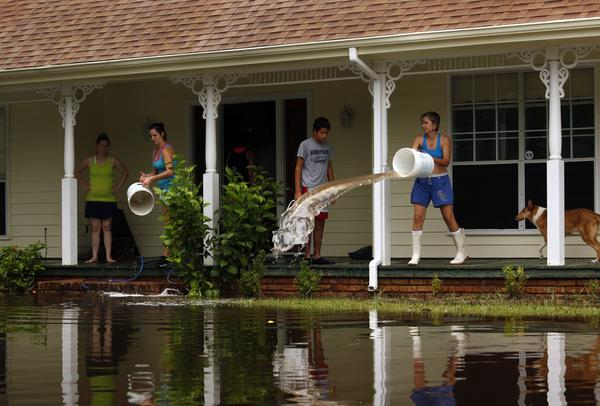 Residents of La Place, Louisiana have never seen water levels this high, even during Hurricane Katrina.