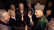 U.S. Senators Meet Karzai