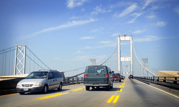The Maryland Transportation Authority approved installing continuous rumble strips and double solid lines to help prevent crashes when traffic is routed both ways on the westbound span of the Bay Bridge.