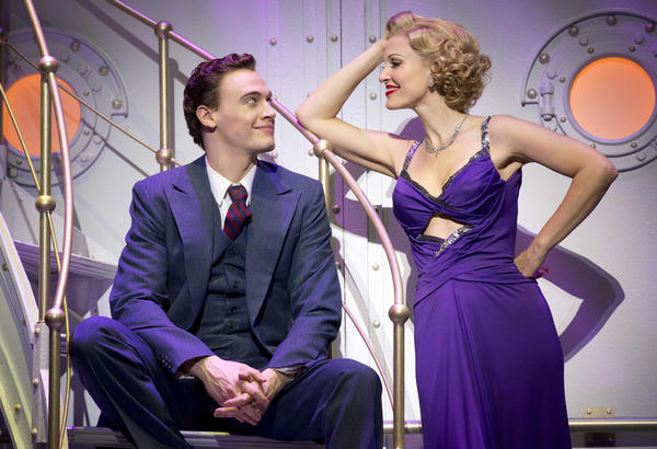 "Despite chemistry like this, Billy (Erich Bergen) and Reno (Rachel York) are not lovers in ""Anything Goes."""