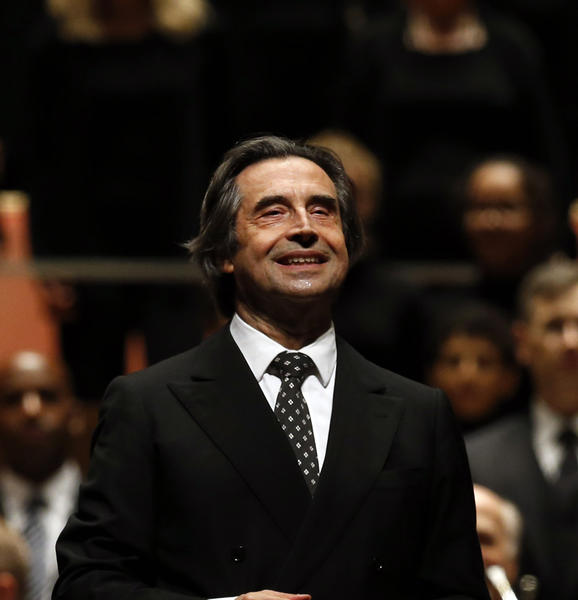 Riccardo Muti and the Chicago Symphony Orchestra perform at Pritzker Pavilion in Millennium Park on Friday, Sept. 21, 2012.