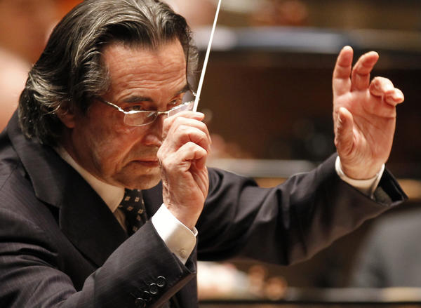 Riccardo Muti conducts the Chicago Symphony Orchestra Friday, April 8, 2011 at Orchestra Hall in Chicago.