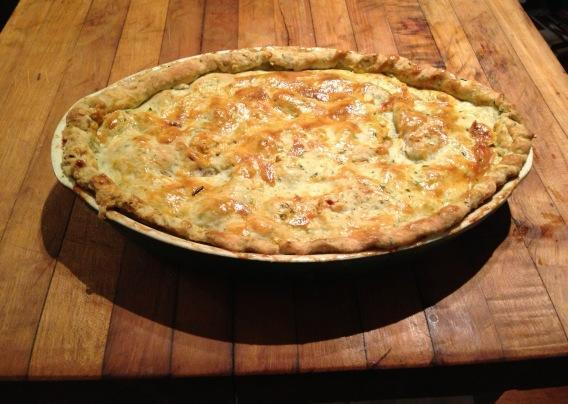 This season's turkey pot pie made with the Thanksgiving leftovers.