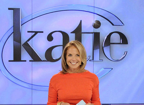 Katie Couric on the set of her syndicated daytime talker.