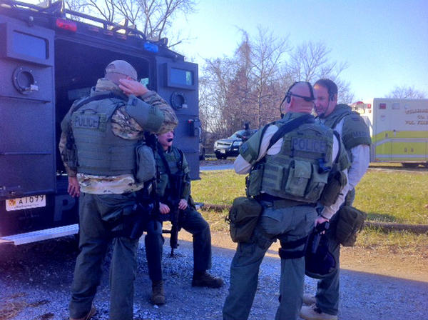 A special response team was deployed near Sharpsburg on Thursday afternoon to search for a potentially armed person in the area of Mills Road.