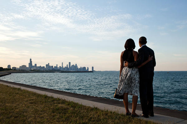 One of the most iconic photos of President Obama came from the White House, which distributed this photo of Obama and wife Michelle admiring the Chicago skyline in June.