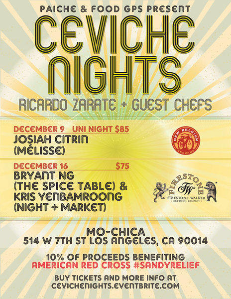Mo-Chica downtown hosts Ceviche Nights with beer pairings.