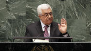 Palestinian President Mahmoud Abbas at United Nations