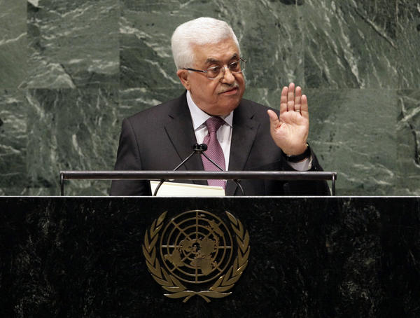 "In a statement Thursday, Palestinian President Mahmoud Abbas appealed to all nations to vote in favor of the Palestinians ""as an investment in peace."""