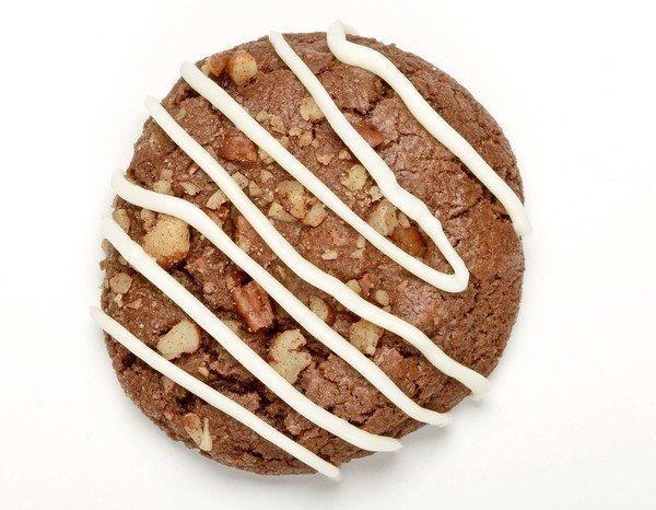 White chocolate turtle cookies.