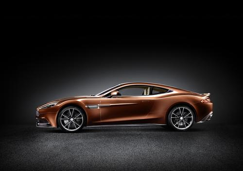The new $280,000 Vanquish can go from 0 to 60 mph in 4 seconds flat hit and a top speed of 183 mph.