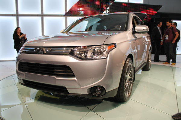 The 2014 Mitsubishi Outlander was unveiled at the 2012 L.A. Auto Show. It will come with either a four-cylinder or six-cylinder engine and is about 200 pounds lighter than the previous model.