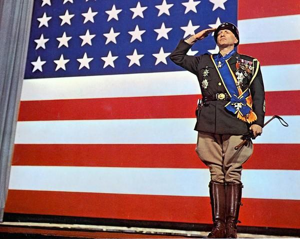 "George C. Scott in the 1970 movie ""Patton."""