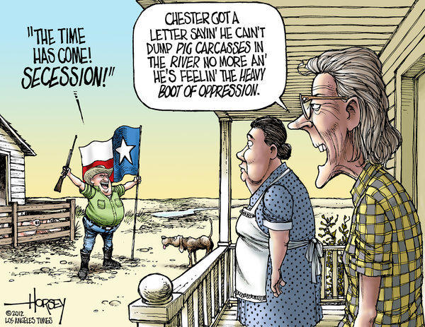 Texas secessionists have so much to whine about