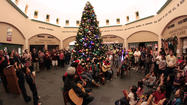 CALEXICO — More than 100 residents of all ages filled the floor of the Calexico City Hall rotunda Thursday as they gathered to watch the lighting of the city's towering Christmas tree as part of the city's annual tradition.
