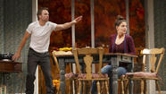 "Theresa Rebeck's ""Dead Accounts"" is on Broadway, loaded with stars -- including two-time Tony Award winner Norbert Leo Butz in the lead as an unscrupulous Wall Street go-getter who has landed back home in Cincinnati, lavishing ill-gotten gains on his family, among them his unglamorous, stay-at-home sister, played by Katie Holmes."