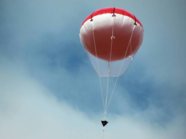 Newport News police partnered with BOSH Technologies to provide aerial surveillance via a camera attached to a helium balloon for Friday's Hollydazzle.