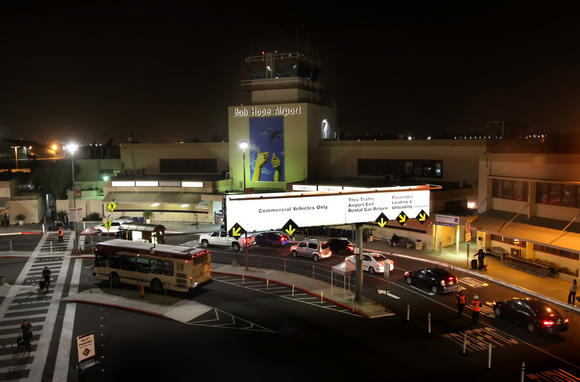 Bob Hope Airport on Thursday night, Nov. 29, 2012.
