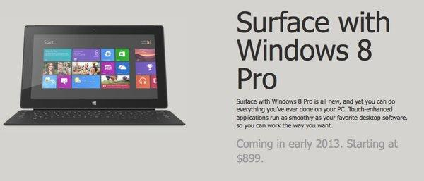 The Microsoft Surface Pro tablet has finally been announced, but a major letdown is its battery life.